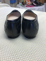 Bottega Veneta Size 6 Black Leather Woven Women's Flats - Fashion Exchange Consignment