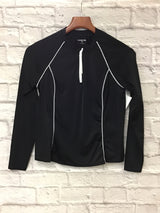 Lands' End Women's Size Small Black Athletic Top