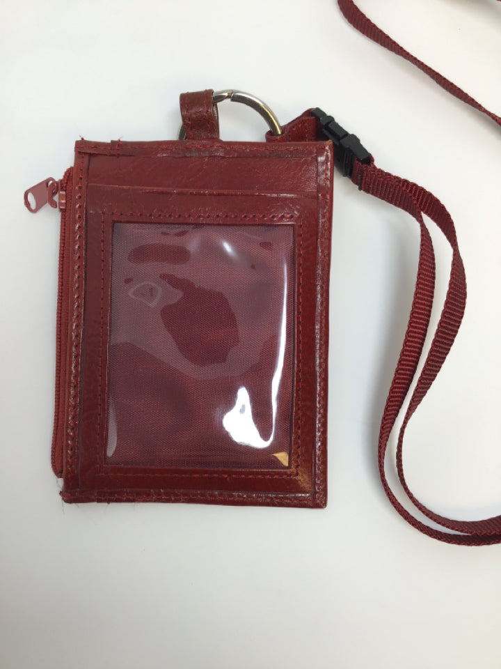 Wilsons Leather Dark Red Leather Lanyard