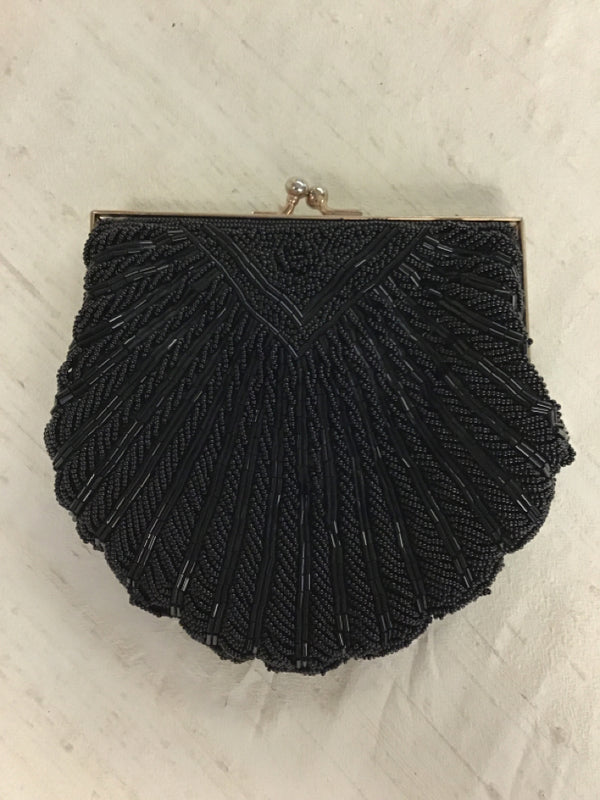 Walborg Black Fabric Evening Bag