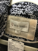 Erin London Women's Size Small Silver/Black Rayon/Poly Jacket