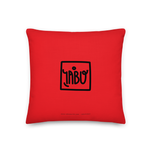 """Untitled"" (Tribute to K. Haring) - Premium Pillow red"