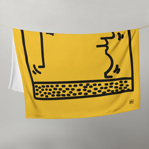 """Untitled"" (K. Haring tribute ) Throw Blanket / Coperta"