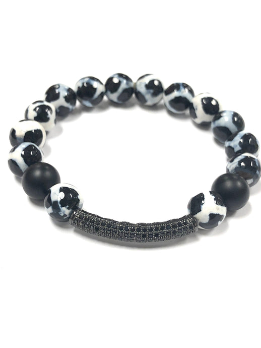Black and White Zebra Beads