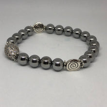 Load image into Gallery viewer, Silver Hematite Swirl