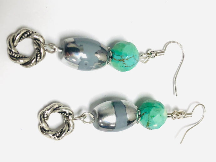 Silver Drop with Turquoise