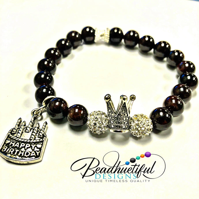 January Birthday Bracelet Garnet Beauty