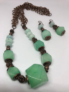 Jade and Amazonite Set