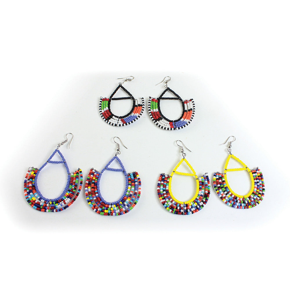 Beaded Zulu Earrings