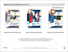 Load image into Gallery viewer, 2019/20 Panini Immaculate Basketball Hobby Box