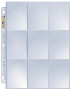 9-Pocket Platinum Page for Standard Size Cards Pack of 10