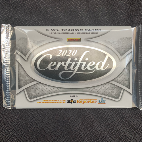2020 Panini Certified Football Pack of 5