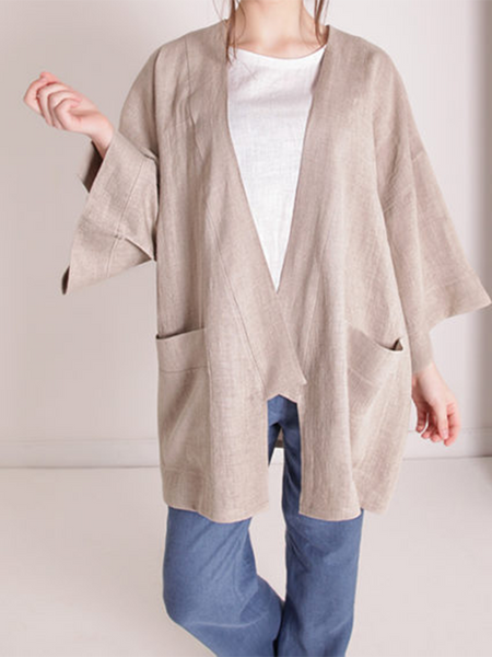 Cottone Linen Pure Color Jacket