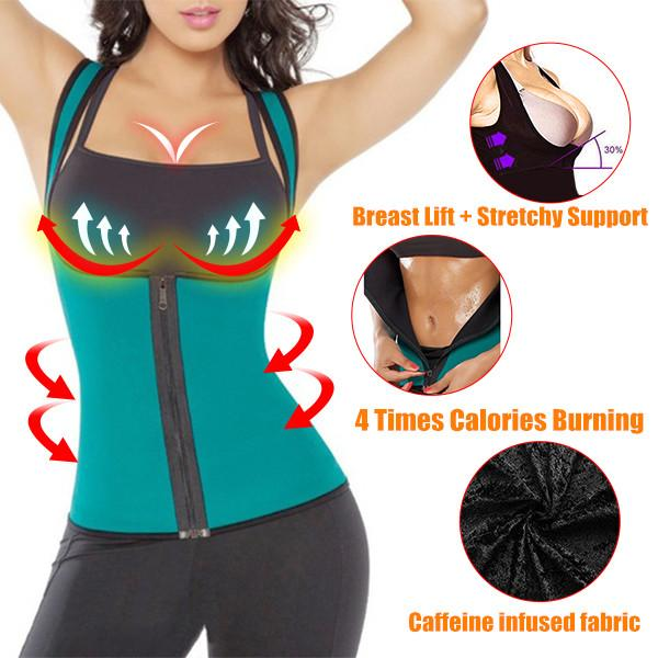 4 Times Calories Burning Slimming Body Suit (Sporting Breast Support + Shaping Underwear)
