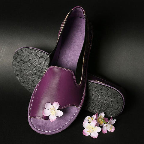 Women Comfy Handmade Soft Genuine Leather Sandal Shoes