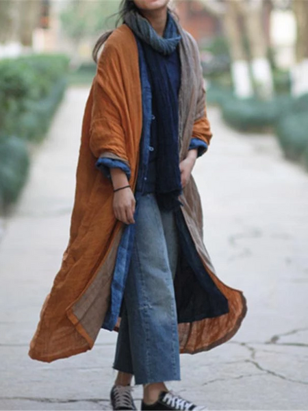 Loose Cotton Linen Long Shirt