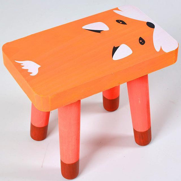 Nordic Cartoon Children'S Solid Wood Square Stool Children'S Stools Small Bench Kid Room Decoration Furniture Children Furniture