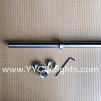 6 Foot Long Barbell with collars (1 INCH)