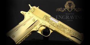 24K Gold Plated Customized Engraved Pistol