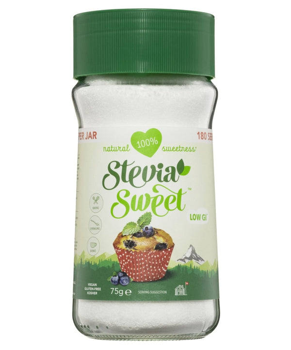 Stevia Sweet Granulated Sweetener Jars, 6 x 75g