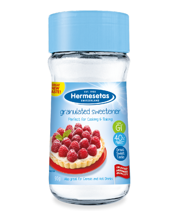 Hermesetas Granulated Sweetener Jars, 6 x 90g