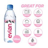 Evian Natural Mineral Water, 24 x 500ml Bottles