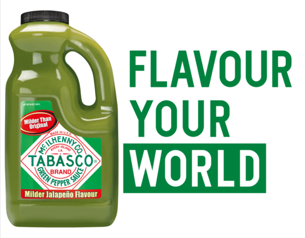 Tabasco Green Pepper Sauce, 2 x 1.89L