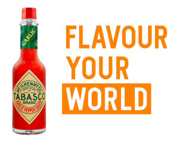 Tabasco Garlic Pepper Sauce, 12 x 60ml