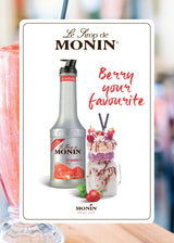 Monin Strawberry Puree, 4 x 1L