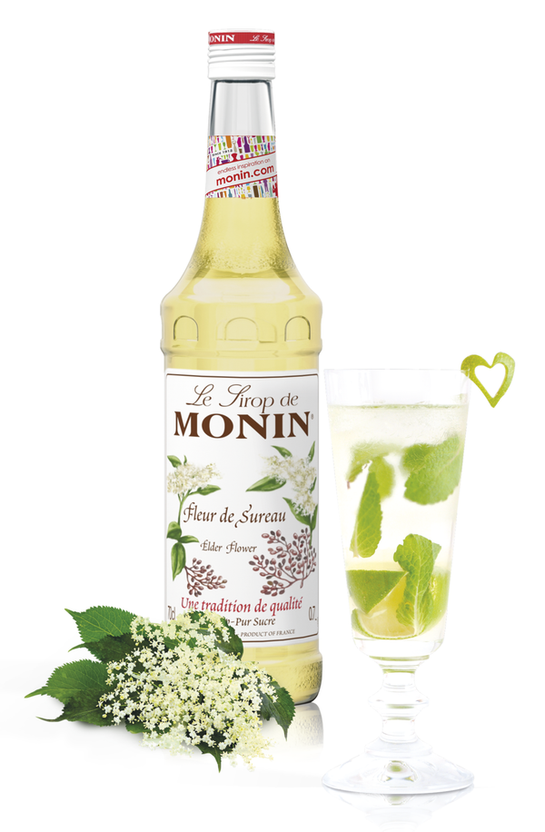 Monin Elder Flower Syrup, 6 x 700ml