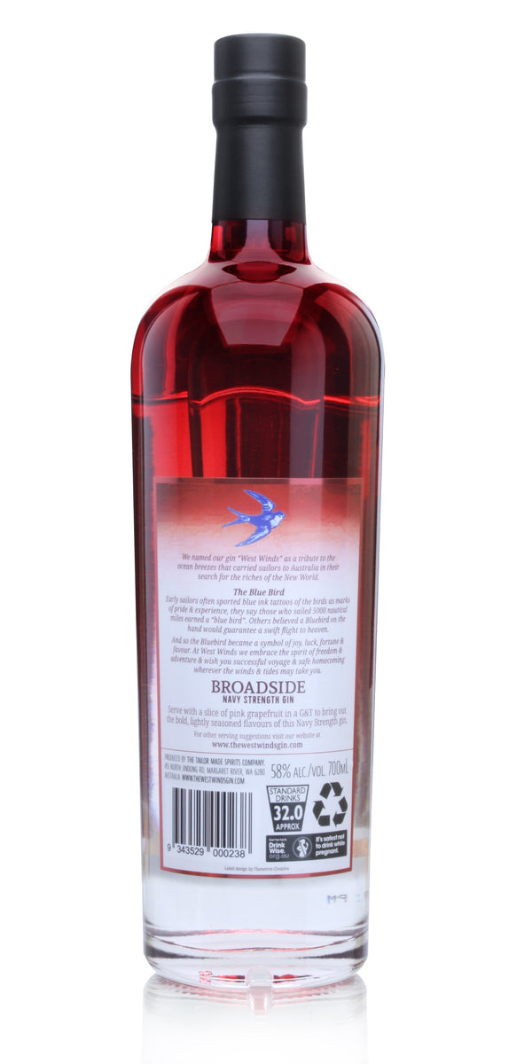 The West Winds Broadside Navy Strength, 6 x 700mL