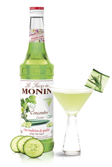 Monin Cucumber Syrup, 6 x 700ml