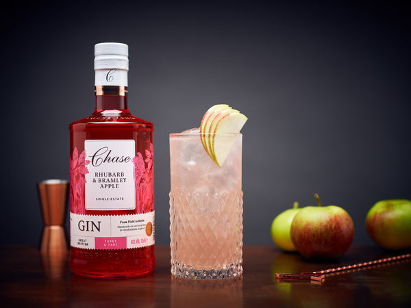 Chase Rhubarb & Bramley Apple Gin, 6 x 700 ml