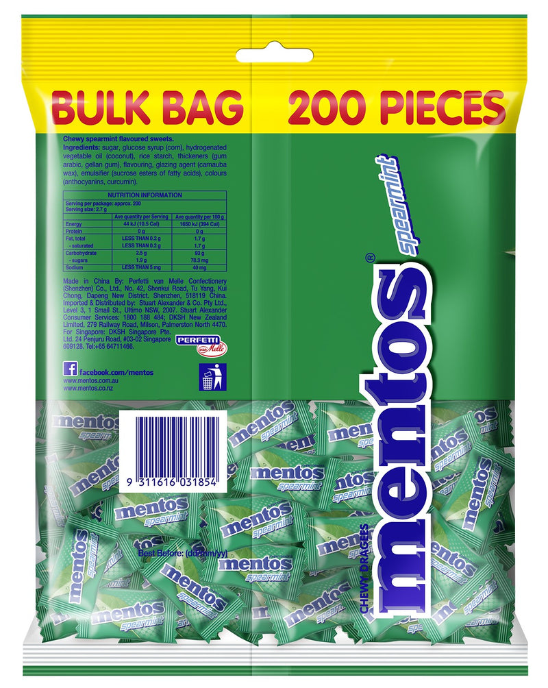 Mentos Spearmint Candy Pillowpack, 12 x 540g