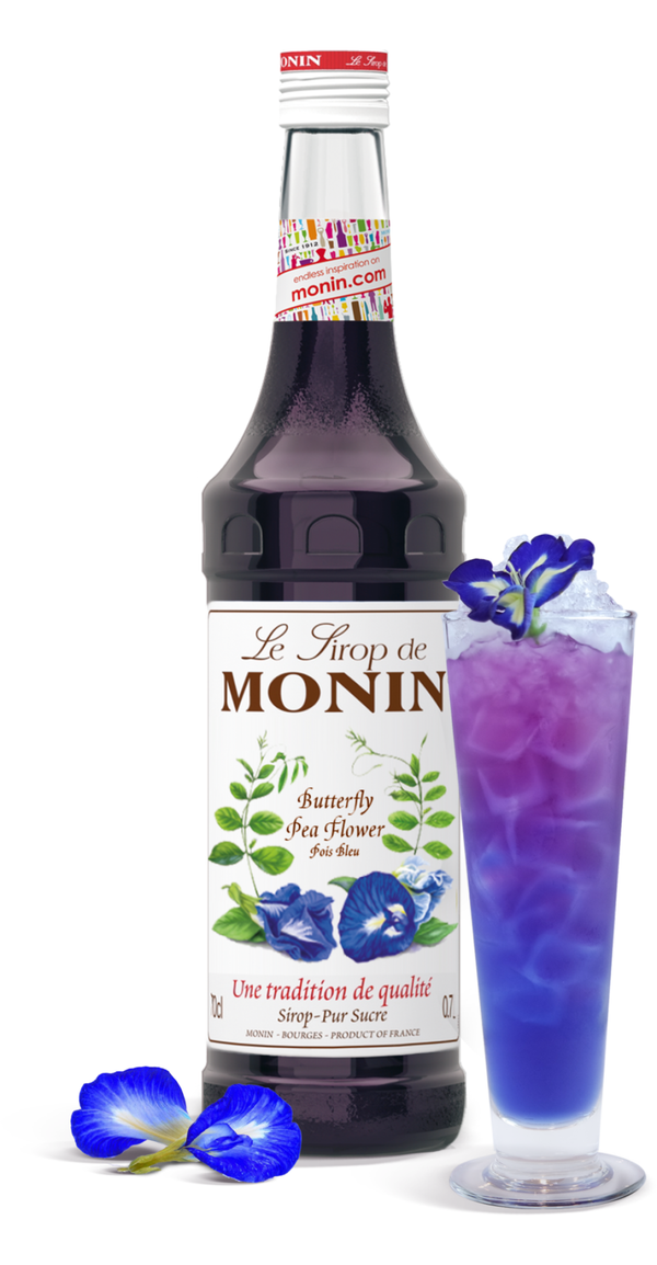 Monin Butterfly Pea Flower Syrup, 6 x 700ml
