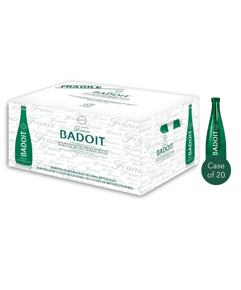 Badoit Sparkling Natural Mineral Water, 20 x 330ml Bottles