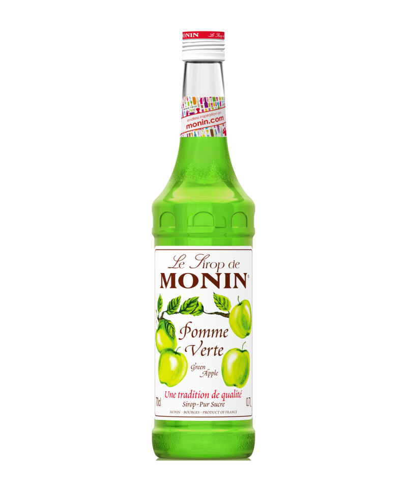 Monin Green Apple Syrup, 6 x 700ml