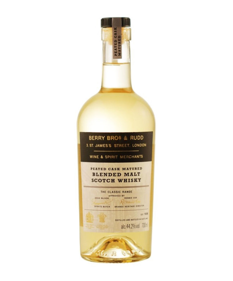 Berry Bros. & Rudd Peated Highland Blended Malt Scotch Whisky, 6 x 700ml