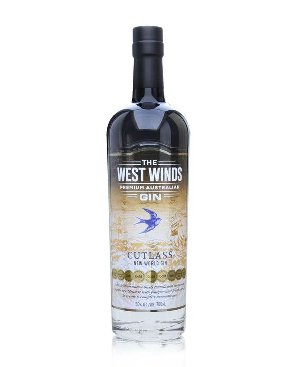 The West Winds Cutlass New World Gin, 6 x 700mL