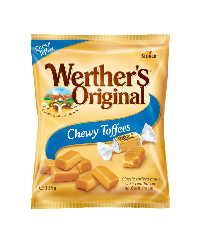 Werthers Original Chewy Toffees Bag, 12 x 135g Bags
