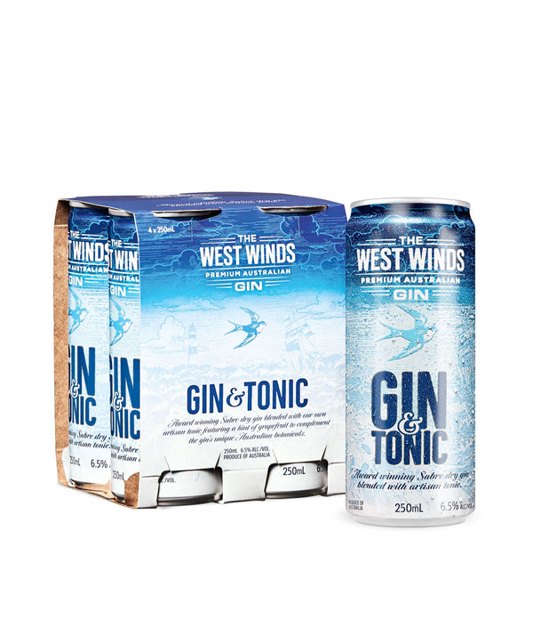 The West Winds Sabre Gin & Tonic, 24 Cans