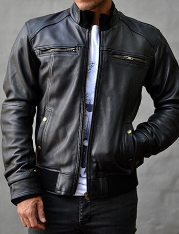 Blackbird Cafe Racer Men's Leather Jacket