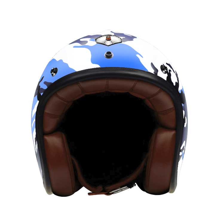 Open Face Camouflage Blue