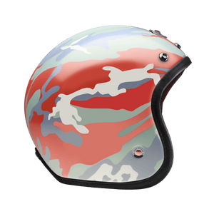 Open Face Camouflage Red