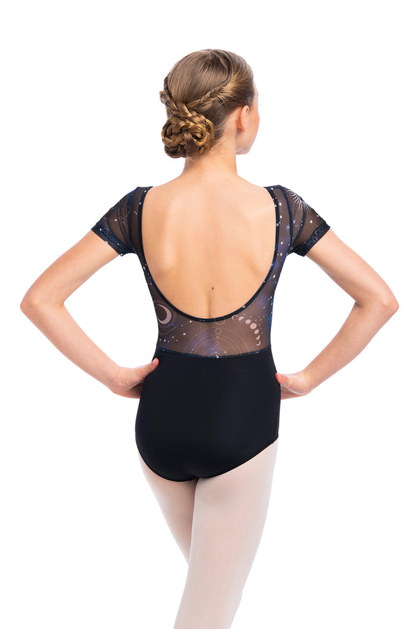 Girls Bonnie Leotard with Night Sky Print