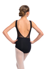 Girls Lennon Leotard with Mesh
