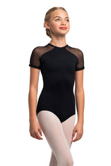 Girls Emily Leotard with Mesh