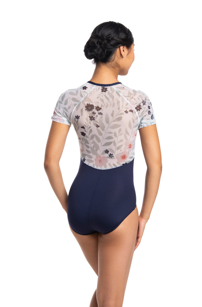 Girls Emily Leotard with Pastel Bloom Print