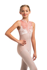 Girls Haley Leotard with Crushed Velvet