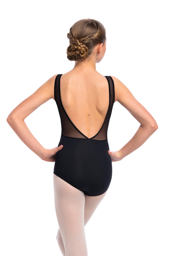 Girls Lennon Leotard with Mesh (1100ME G)